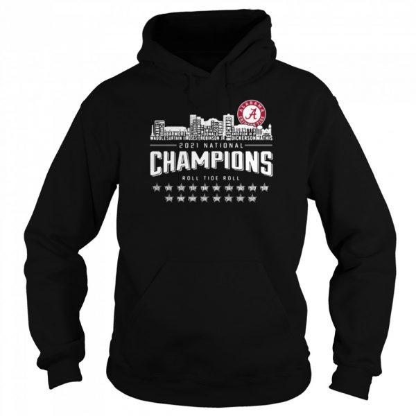 Crimson Tide 2021 national Champions roll Tide roll 1935-2021  Unisex Hoodie