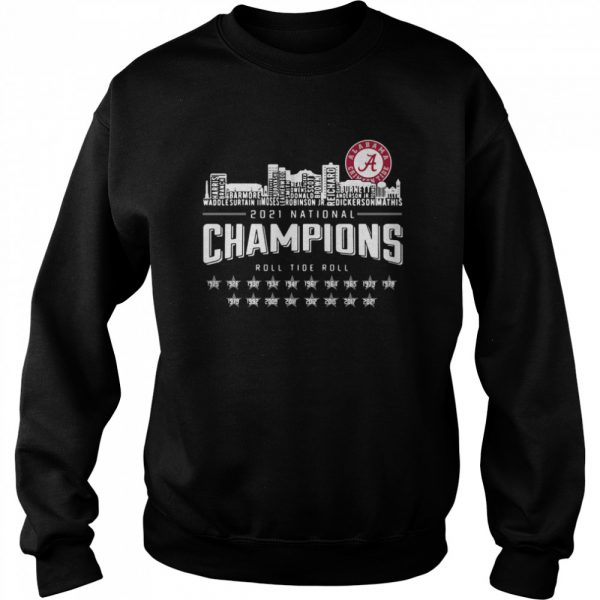 Crimson Tide 2021 national Champions roll Tide roll 1935-2021  Unisex Sweatshirt