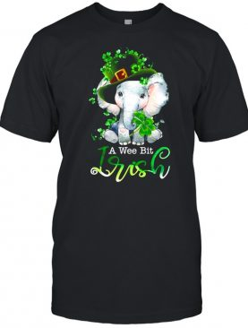 Elephant A Wee Bit Irish Green For Patrick's Day Lover shirt