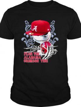 Fear The Alabama Crimson Tide Skull Wear Hat Logo Team shirt