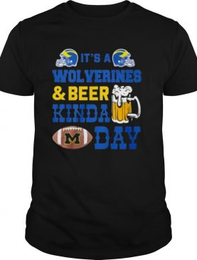 It's a michigan wolverines and beer kinda day shirt