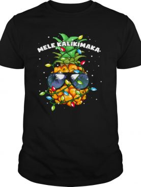 Mele Kalikimaka Christmas Lights Hawaiian XMas Pineapple shirt