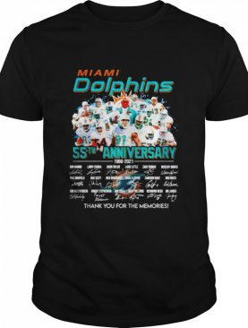 Miami Dolphins 55th anniversary 1966 2021 thank you for the memories signatures shirt
