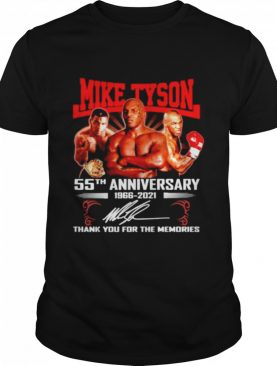 Mike Tyson 55TH 1966-2021 signature thank you for the memories shirt