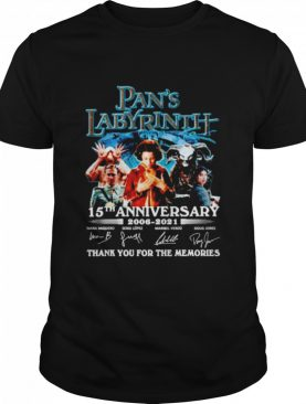 Pan's Labyrinth 15th anniversary 2006 2021 thank you for the memories shirt