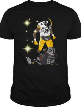Pittsburgh Steelers JuJu Smith and Oakland Raiders Antonio Brown shirt