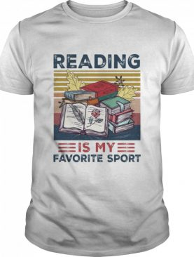 Reading is my favorite sport vintage shirt