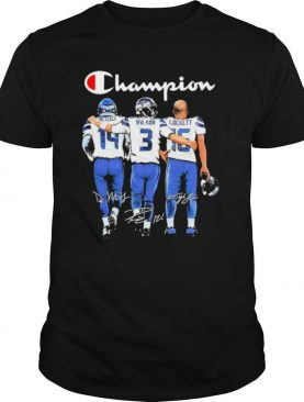 Seattle Seahawks Champion Metcalf Wilson And Lockett Signatures shirt