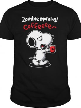 Snoopy Zombie Morning Coffee shirt