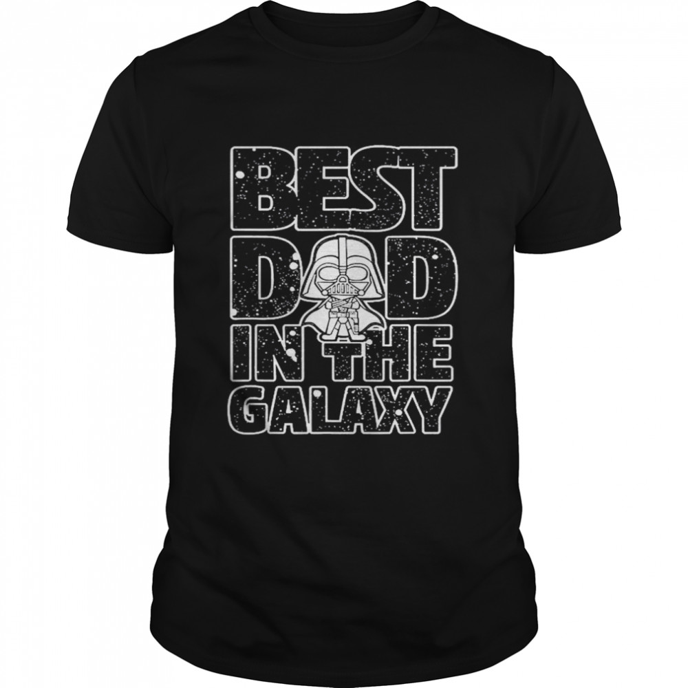 Star Wars Best Dad in the Galaxy Darth Vader Classic Mens T shirt