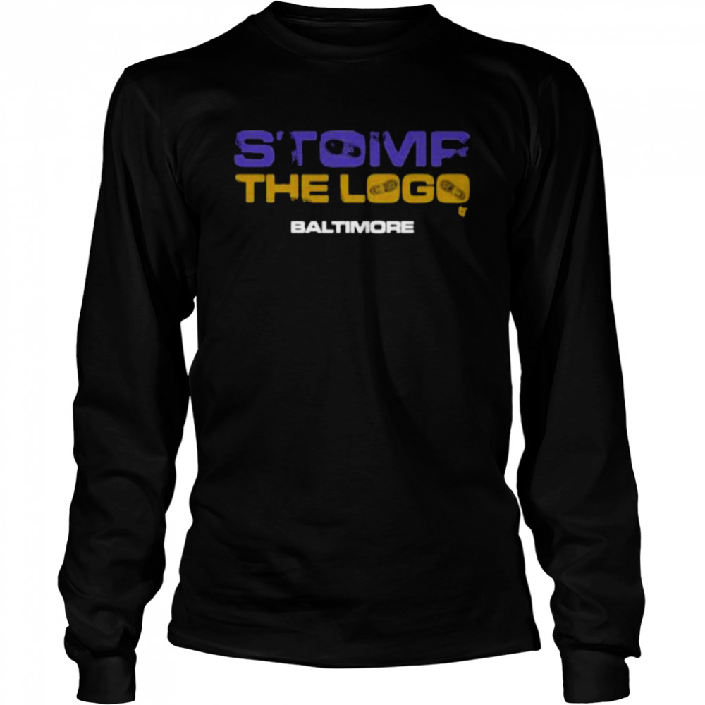 Stomp the logo breakingt baltimore Football  Long Sleeved T-shirt