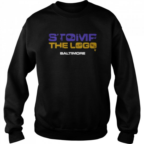 Stomp the logo breakingt baltimore Football  Unisex Sweatshirt