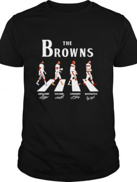 The Browns Landry Chubb Hunt Mayfield Abbey Road signatures shirt