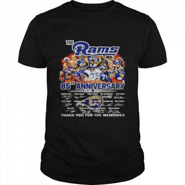 The Los Angeles Rams 85th anniversary 1936 2021 thank you for the memories  Classic Men's T-shirt