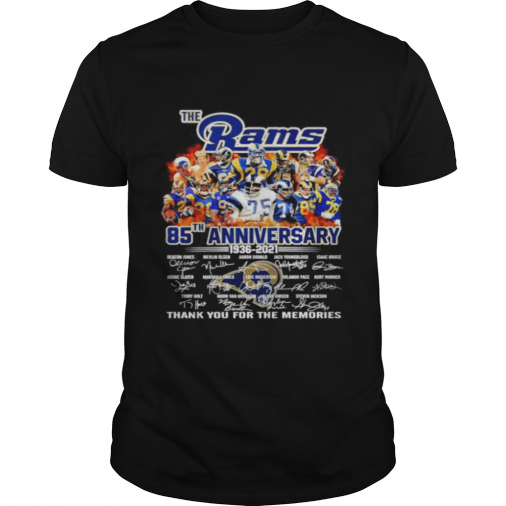 The Los Angeles Rams 85th anniversary 1936 2021 thank you for the memories Classic Mens T shirt