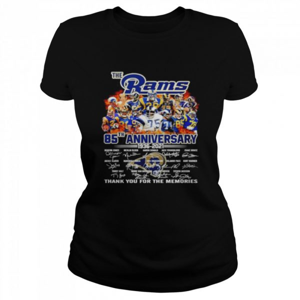 The Los Angeles Rams 85th anniversary 1936 2021 thank you for the memories  Classic Women's T-shirt