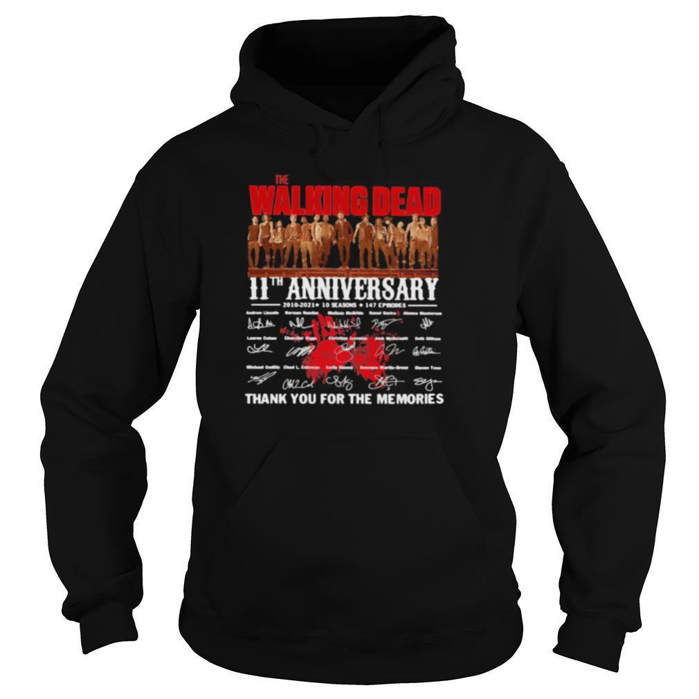 Walking Dead 11st Anniversary 2000 2021 Thank You For The Memories Signature shirt