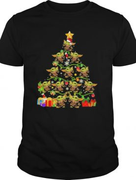 baby yoda christmas tree pine shirt