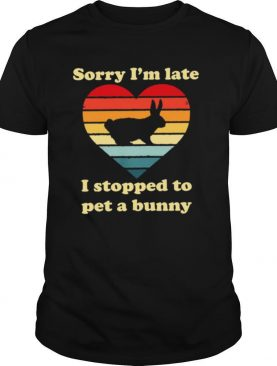 Sorry Im late I stopped to pet a bunny vintage shirt