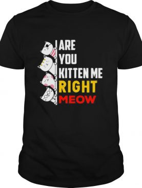 Are You Kitten Me Right Meow shirt