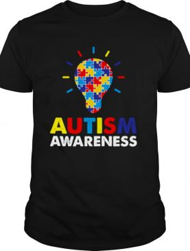 Autism Awareness Month Light Bulb Puzzle Piece shirt