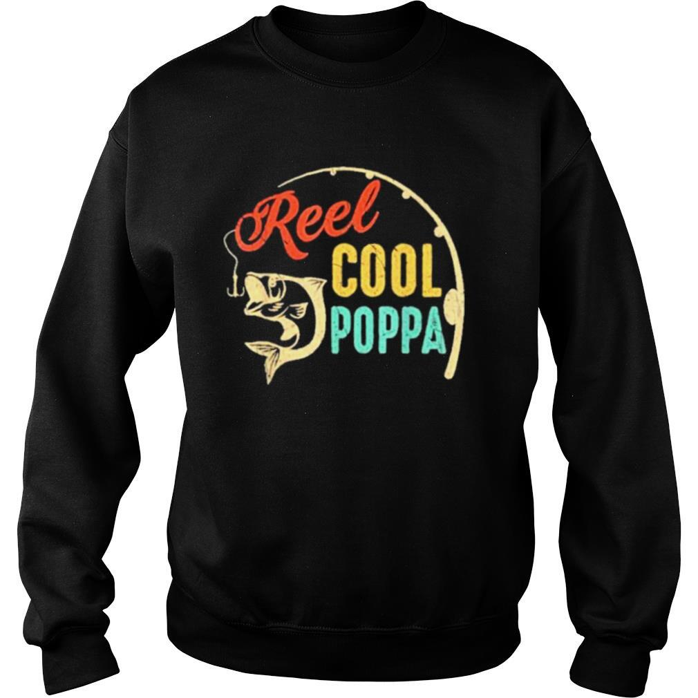 Fathers day fishing reel cool poppa vintage shirt