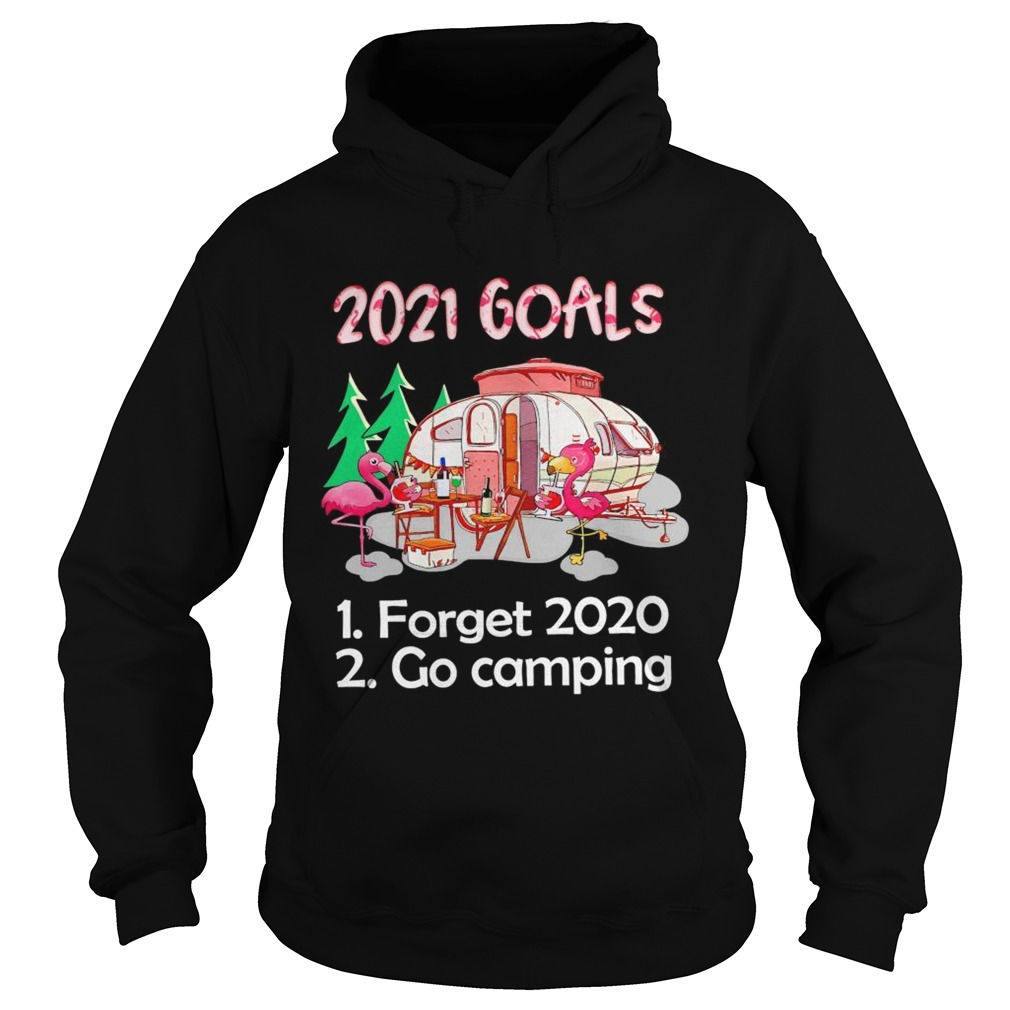 Flamingo 2021 Goals forget 2020 go Camping  Hoodie
