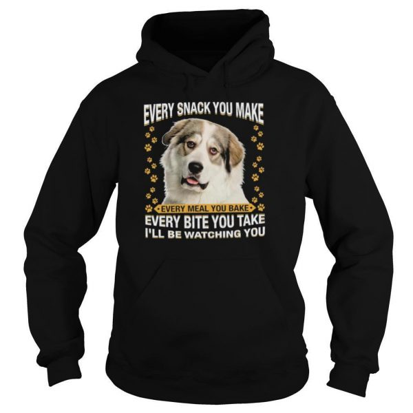 Great Pyrenees Dog Every Snack You Make Every Bite You Take Ill Be Watching You shirt