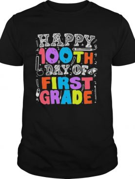 HAPPY 100TH DAY OF FIRST GRADE MATH 2021 SHIRT