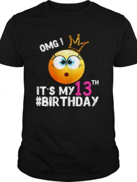 Happy Birthday Shirt Girls 13Th Party 13 Years Old Bday shirt