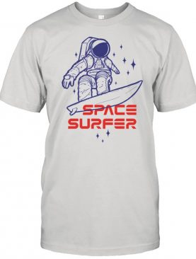 Space surfer Astronaut riding surfboard in the outer space shirt