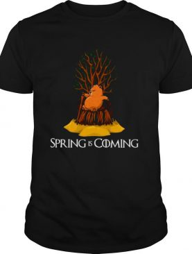 Spring Is Coming Groundhog Day For Kids Men Women Shirt