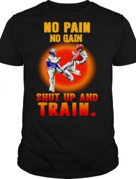 Taekwondo No Pain No Gain Shut Up And Train shirt