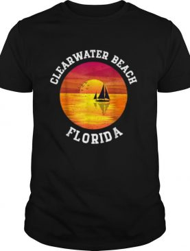 Vintage Clearwater Beach Florida Retro 80s Summer Souvenir shirt