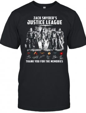 Zack Snyders Justice League thank you for the memories shirt