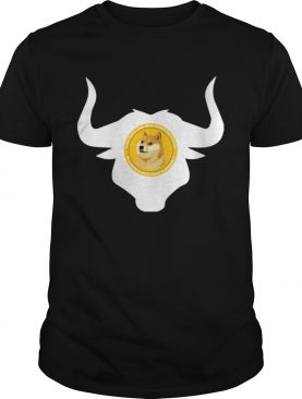 Dogecoin Bull Head Cool Blockchain HODL Cryptocurrency Ox Shirt
