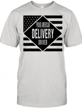 Proud American Delivery Driver Patritotic US Flag Shirt